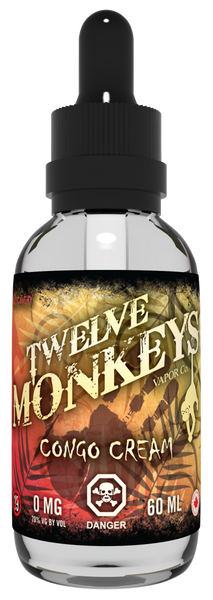 Twelve Monkeys Congo Creme E-Liquid - 100ML - Sagavape.com