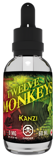 Twelve Monkeys Kanzi E-Liquid - 100ML - Sagavape.com