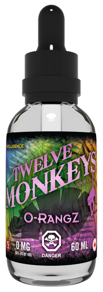 Twelve Monkeys O-RangZ E-Liquid - 100ML - Sagavape.com