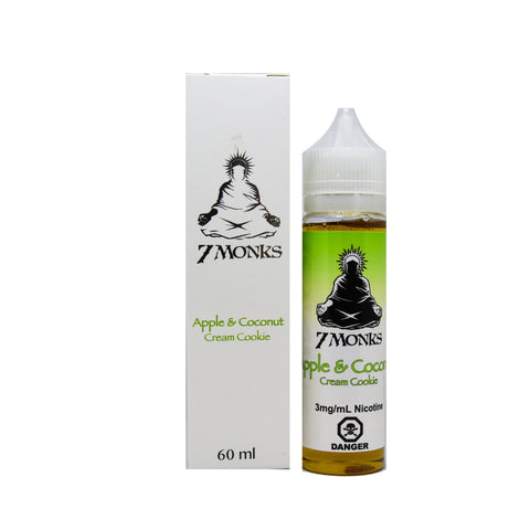 Apple Coconut Cream Cookie By 7 Monks E-Liquid - 60ml