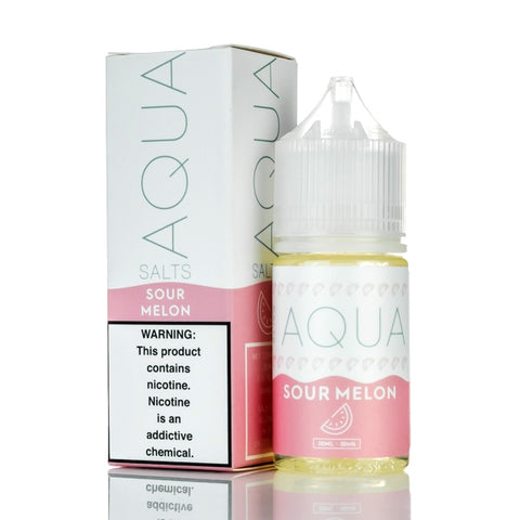 Sour Melon By Aqua Nic Salt E-Liquid - 30ML