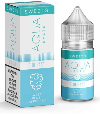 Blue Razz By Aqua Nic Salt E-Liquid - 30ML