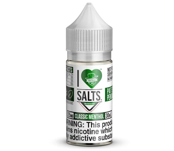 Classic Menthol By I Love Salts By Mad Hatter Nic Salt E-Liquid - 30ML