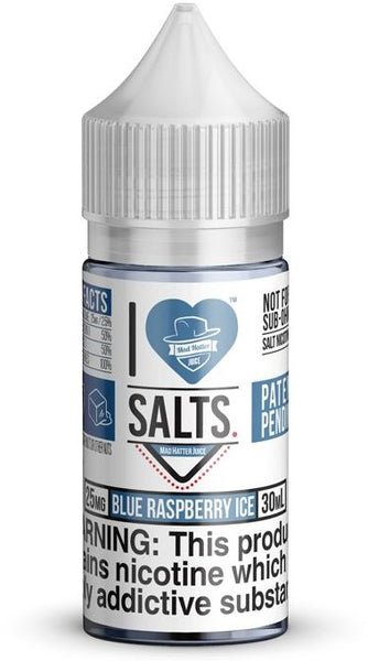 Blue Raspberry Ice By I Love Salts By Mad Hatter Nic Salt E-Liquid 30mL