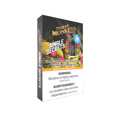 Twelve Monkeys Jungle Secrets PODS for Nikki Vape Kit (3 Pack)