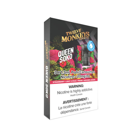 Twelve Monkeys Queen Soko PODS for Nikki Vape Kit (3 Pack)