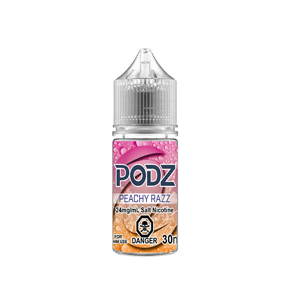 Peachy Razz By Podz Nic Salt E-Liquid - 30ml