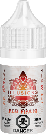 Red Magic By Illusions Nic Salt E-Liquid - 30ml