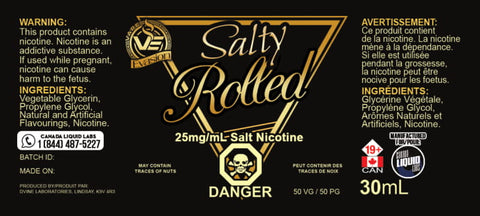 Rolled By Vape Evasion Nic Salt E-Liquid - 30ML