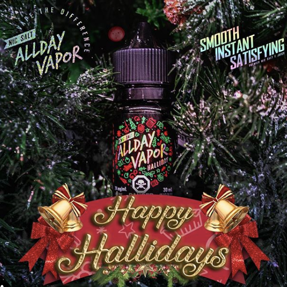 Halliday By All Day Vapor Nic Salt E-Liquid - 30ml