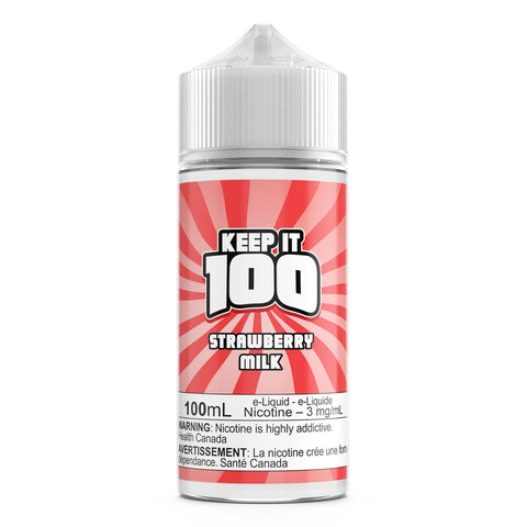 Strawberry Milk By Keep It 100 E-Liquid - 100ML
