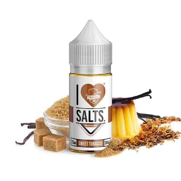 Sweet Tobacco Nic Salts E-Liquid By I Love Salts By Mad Hatter - 30ML - Sagavape.com