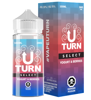 Select Yogurt & Berries By U-Turn E-Liquid - 100ML
