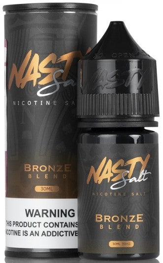 Tobacco Bronze By Nasty Juice Nic Salt E-Liquid - 30mL