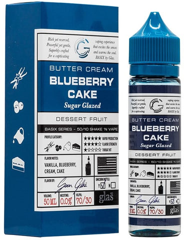 Blueberry Cake By Glas Basix Series E-Liquid - 60mL