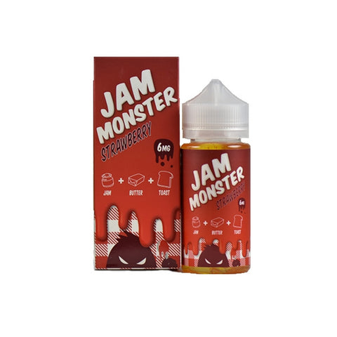 Strawberry By Jam Monster E-Liquid - 100ml - Sagavape.com