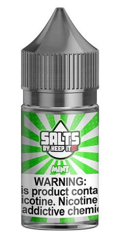 Mint By Keep It 100 Nic Salt E-Liquid - 30ML