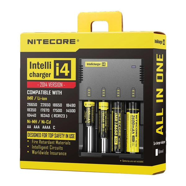Nitecore Intellicharger i4 V2 4-Slot Charger US Universal Charger