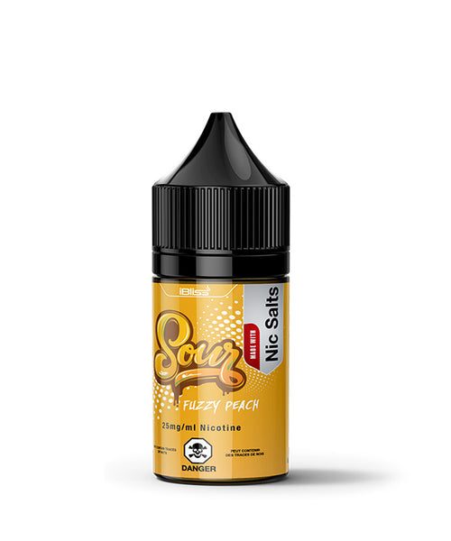 iBliss Sour Fuzzy Peach Nic Salts E-Liquid - 30ML - Sagavape.com