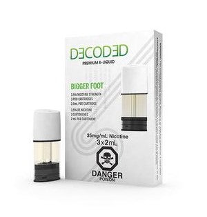 DECODED Bigger Foot by STLTH E-Liquid (3 Pods Pack)