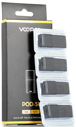 VOOPOO DRAG NANO & VOOPOO Alpha Zip Pod S1 Replacement Cartidge (4 Pack)