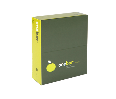 Onebar box of 12 for apple flavor.