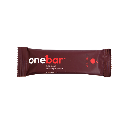 Single bar shot of Onebar Cherry flavor.