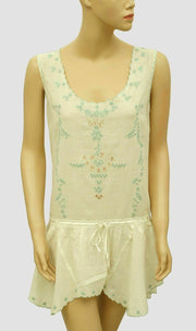 Free People Floral Embroidered Tunic Top S