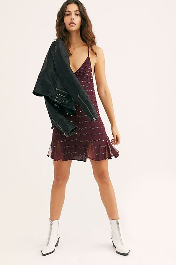 Intimately Free People Metal Maiden Slip Mini Dress
