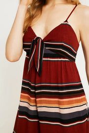 Urban Outfitters Bunny Tie-Front Stripe Jumpsuit M