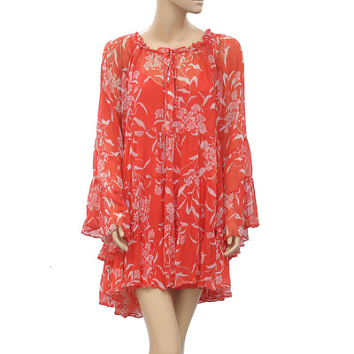 Free People Endless Summer Sheer Printed Tunic Dress Oversized M