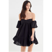 Urban Outfitters Summer In Italy Off-the-shoulder Mini Dress