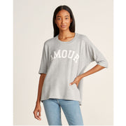 Zadig & Voltaire Portland Amour Screen Print Tee Tunic Top