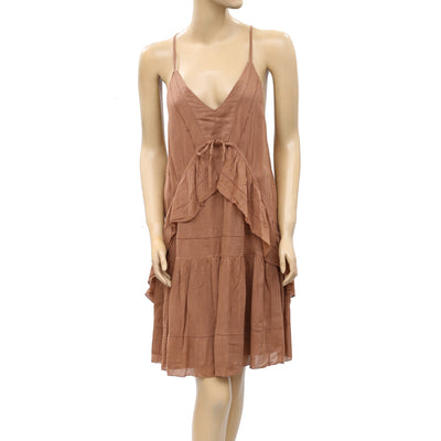 IRO Maoline Mini Slip Dress Ruffle Tiered Resort S 36