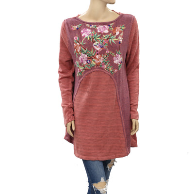 Soft Surroundings Floral Embroidered Tunic Top XL