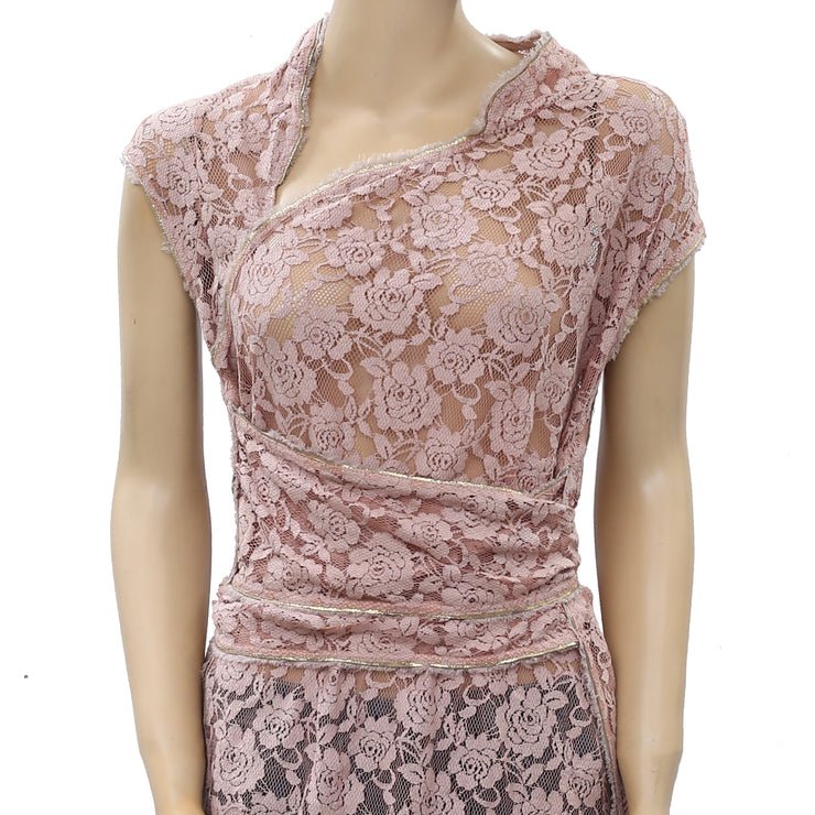Free People Fp One Cheongsam Lace Tunic Top S