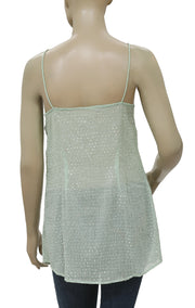 Free People Sequin Embellished Mint Tunic Top