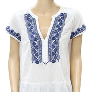 Odd Molly Anthropologie Embroidered White Blouse Top S-1