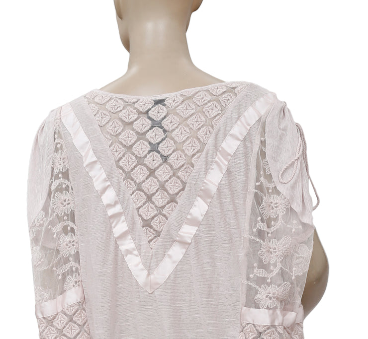 Free People South Of The Equator Pink Top M
