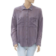 Free People Shibori Siren Button Down Top S
