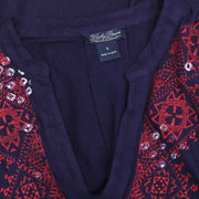 Lucky Brand Embroidered Indigo Tank Tunic Top S