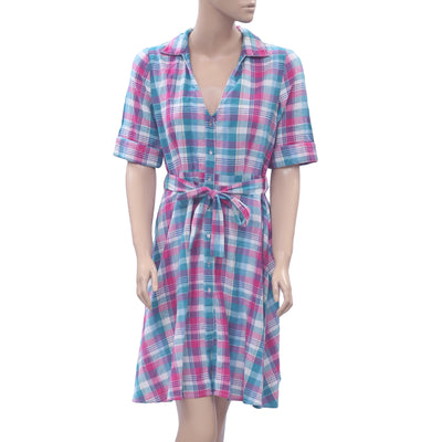 Anthropologie Check & Plaid Mini Shirt Dress S