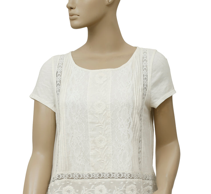 Meadow Rue Embroidered Lace Top S
