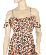 Pins & Needles Floral Printed Cold Shoulder Dress L