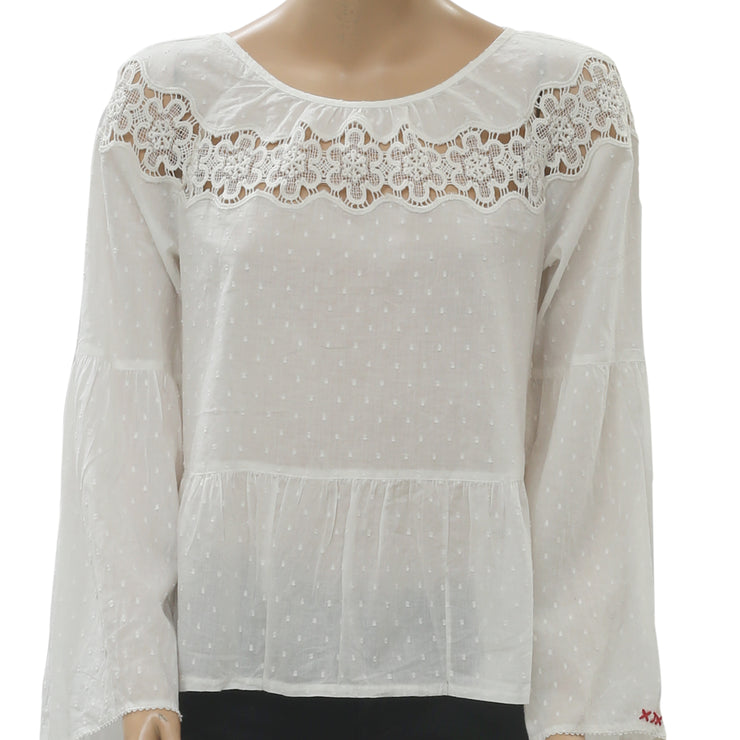 Odd Molly Anthropologie Lacey Moves Blouse Top M