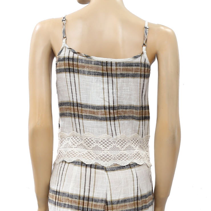 Free People Plaid & Check Printed Jumpsuit Dress