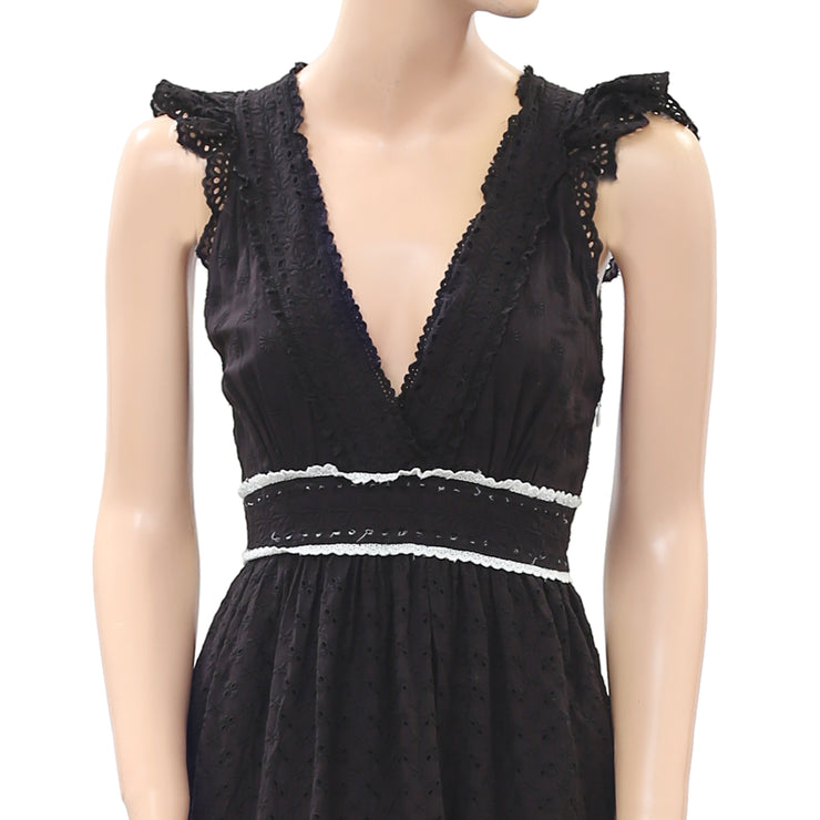 Ulla Johnson Marjorie Floral Eyelet Embroidered Midi Dress Lace S New