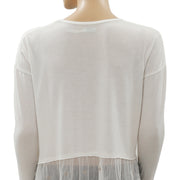 Kimchi Blue Urban Outfitters Embroidered Ivory Top S