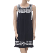 Lucky Brand Embroidered Shift Tunic Dress S