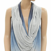 DKNY Jeans Ombre Wrap Sweater cardigan Tunic Top Medium M